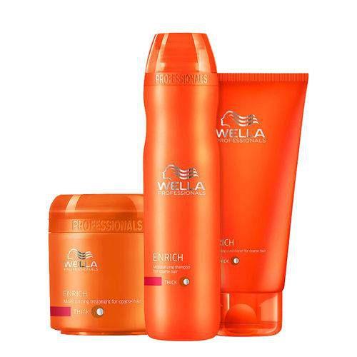08df09ba6 Linha Wella Profissional Enrich Hidratação para cabelos ressecados,  danificados, normais a finos e volumosos