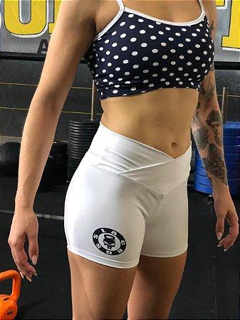 Conjunto poá shorts branco