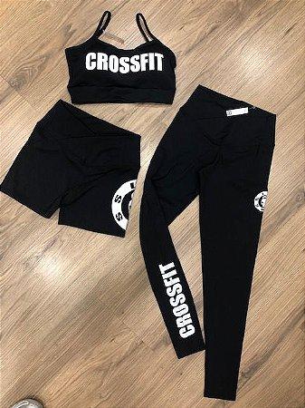 Trio Crossfit - Top,shorts e calça