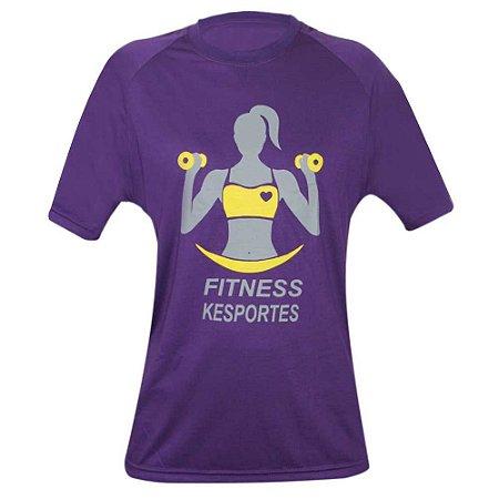 Camiseta Raglan Roxa