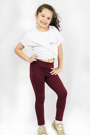 Legging Infantil Vinho
