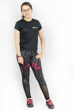Legging tech tulle