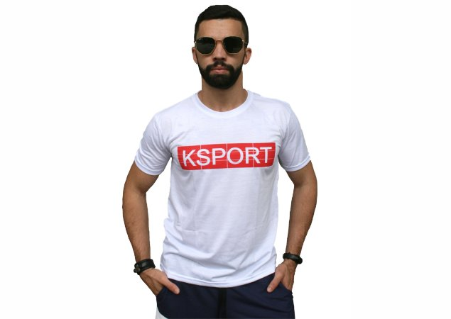 Camiseta branca KSPORT