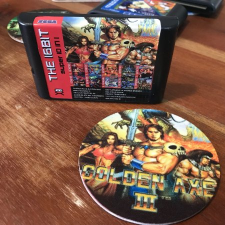 Cartucho com 10 Jogos do Mega Drive