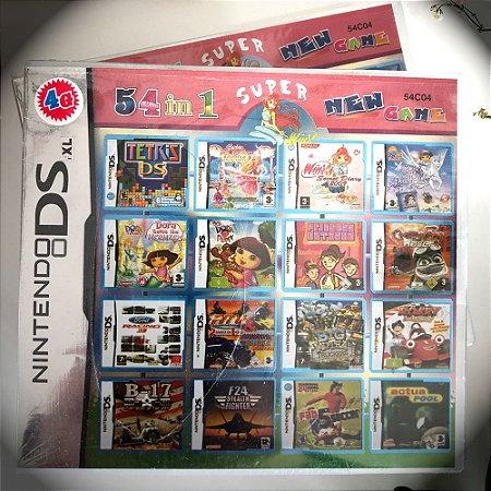 Super 54 jogos em 1 para Nintendo DS, 2DS ou 3DS