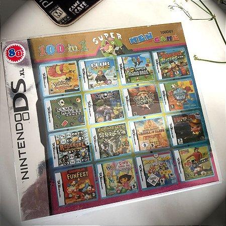 Super 100 jogos em 1 para Nintendo DS, 2DS e 3DS