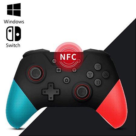 Controle Nintendo Switch Bluetooth Azul e Vermelho
