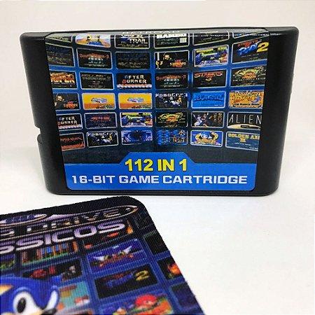 Cartucho Mega Drive 112 jogos em 1