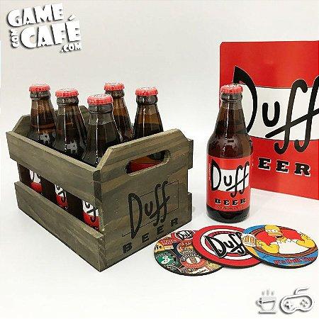 Engradado com 6 Cervejas Duff Beer