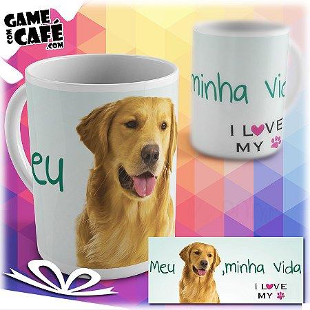 Caneca Pets P23 I Love My Golden Retriever