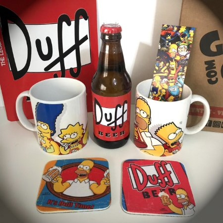 Caneca dos Simpsons + Duff Beer Decorativa