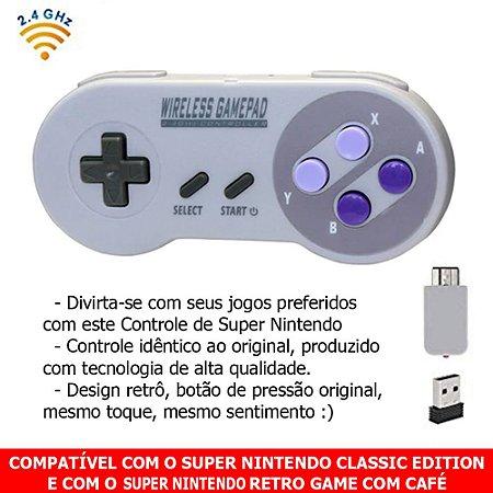 Controle Super Nintendo Sem Fio