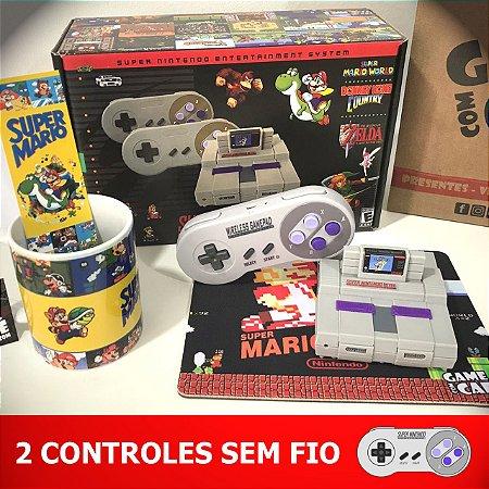 Mini SNES Retro 10.000 Jogos e 2 Controles Sem fio