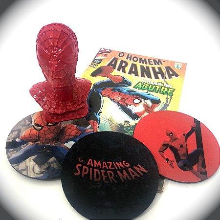 Busto Red Spider-Man + Quadrinhos