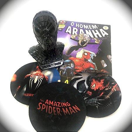 Busto Black Spider-Man + Quadrinhos