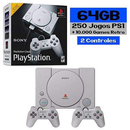 Playstation Classic Retro 250 Jogos PS1 + Retro