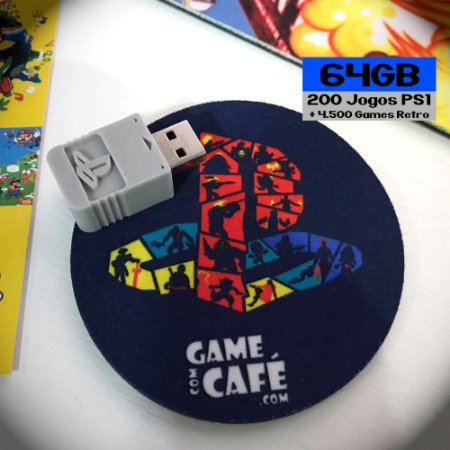 180 Jogos + 4500 Retro para o Playstation Classic - 64GB