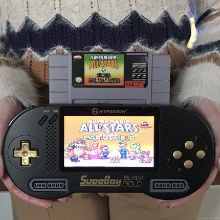 Super Nintendo Portátil + Mario All-Stars - SupaBoy BlackGold