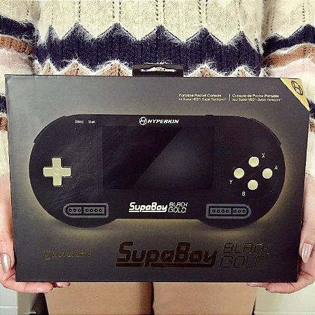 Super Nintendo Portátil com 101 Jogos - SupaBoy BlackGold
