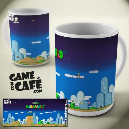 Caneca Super Mario World - Night