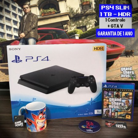 Playstation 4 Slim 1TB + GTA V
