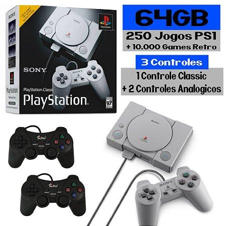 Playstation Classic Retro 250 Jogos com Controles Analógicos