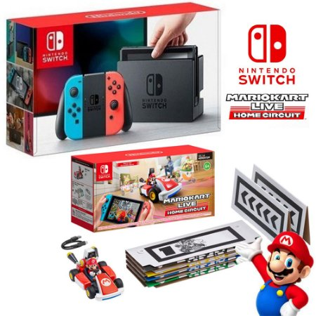 Nintendo Switch + Mario Kart Live
