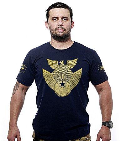 Camiseta Militar JASDF Japan Air Self-Defence Force Gold Line
