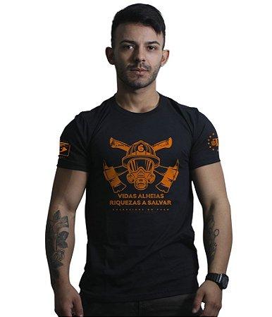 Camiseta Bombeiros Vidas Alheias Riquezas a Salvar