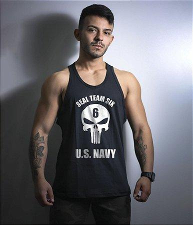 Camiseta Regata Punisher Navy Seals