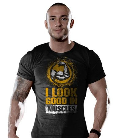 Camiseta Academia I Look Good In Muscles