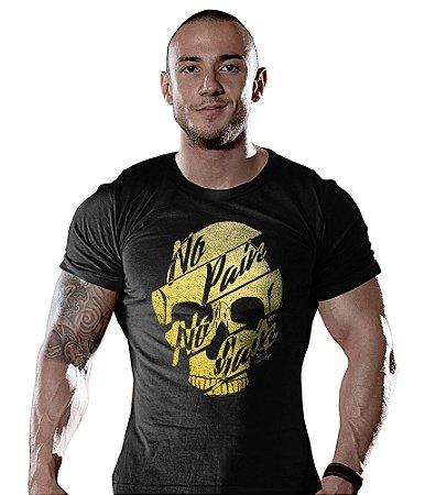 Camiseta Academia No Pain No Gain Gold