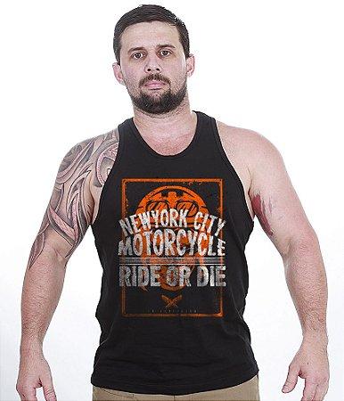 Camiseta Regata Motorcycle New York City Ride Or Die