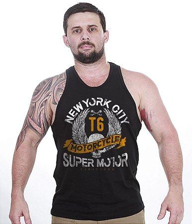 Camiseta Regata Motorcycle Super Motor