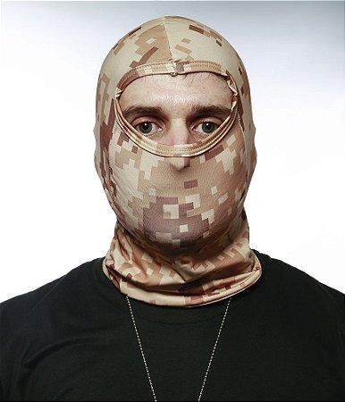 Balaclava Tatica Militar Camuflada Digital Desert Em Dry Fit Operações especiais