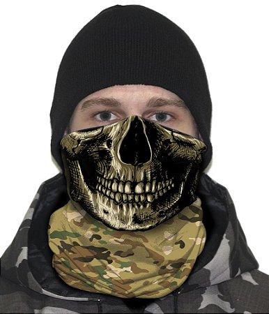 Face Armor Caveira Camuflada Multicam
