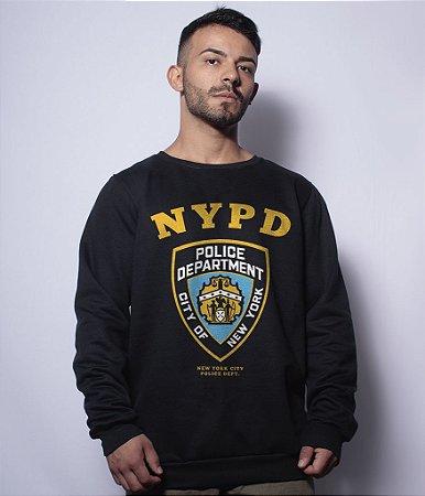 Casaco Básico de Moletom NYPD New York City Police Department