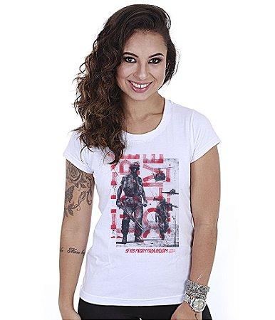 Camiseta Militar Baby Look Feminina Si Vis Pacem Para Bellum Team6
