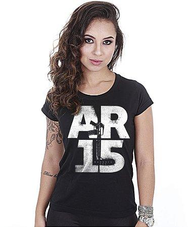 Camiseta Baby Look Feminina Squad T6 Magnata AR15
