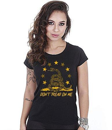 Camiseta Baby Look Feminina Don't Tread On Me Snake