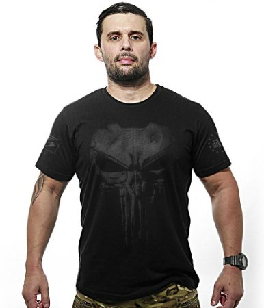 Camiseta Militar Dark Line Punisher Plate