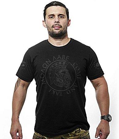 Camiseta Militar Dark Line Molon Labe Come and Take