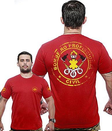 Camiseta Militar Wide Back Bombeiro Civil Profissional