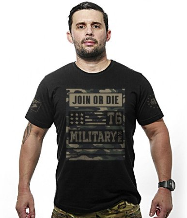 Camiseta Militar Concept Line Team Six Camu Join Or Die