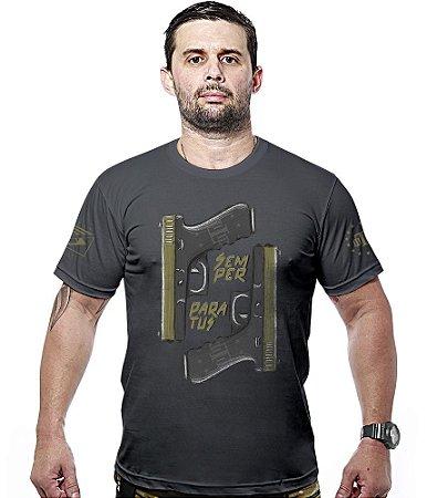 Camiseta Militar Concept Line Team Six Glocker Semper Paratus Hurricane