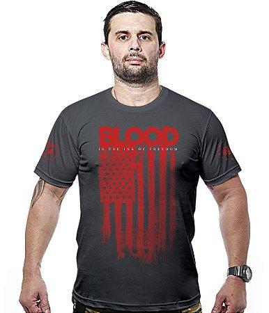 Camiseta Militar Blood Is The Ink Of Freedom Hurricane Line
