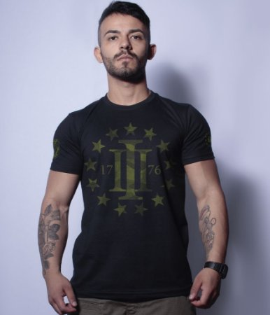 Camiseta Militar Magnata Three Percent 1776