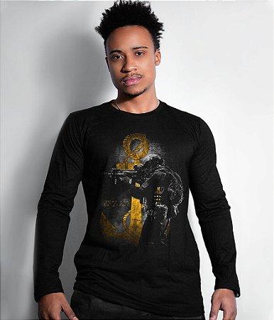 Camiseta Manga Longa Marinha Tactical