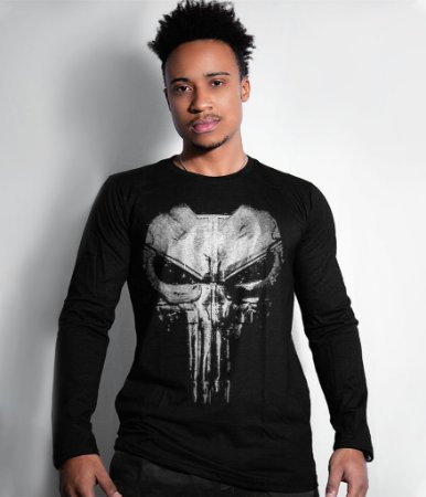 Camiseta Manga Longa Punisher Plate