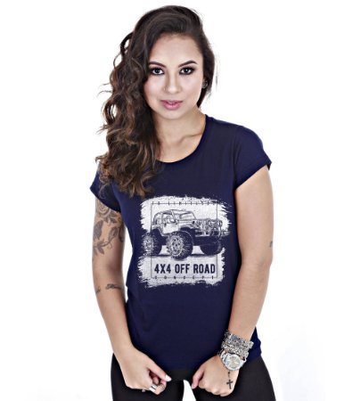 Camiseta Baby Look Feminina Off Road 4x4 Limitless